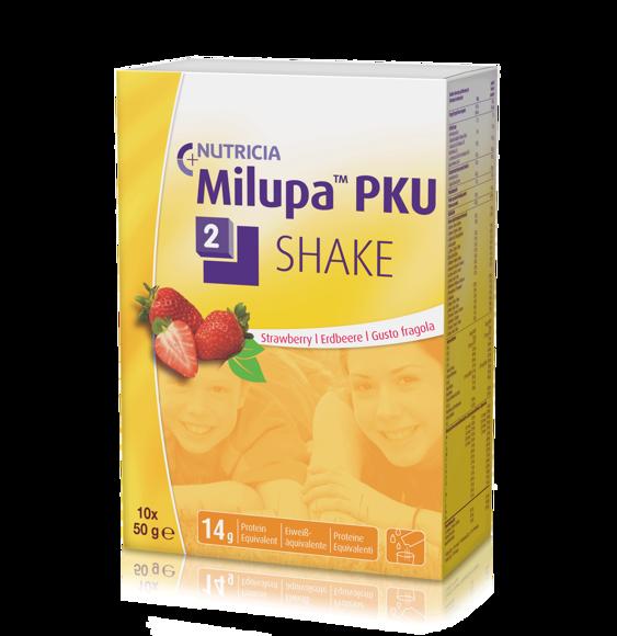 Bild von PKU 2-shake Erdbeere 10 x 50 g